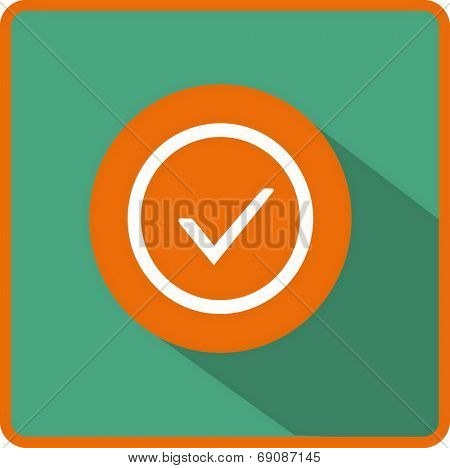 Flat Vector Accept Icon