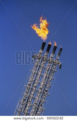 Flaming Smokestacks