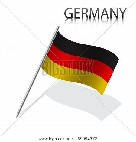 Realistic German flag