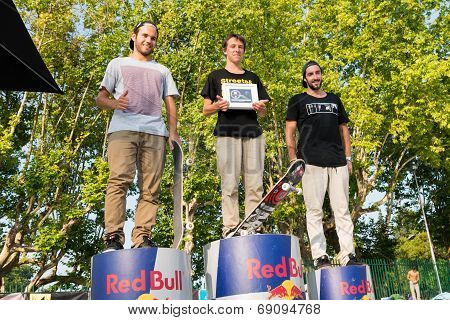 Pro Podium At The 2Nd Stage Dc Skate Challenge By Fuel Tv