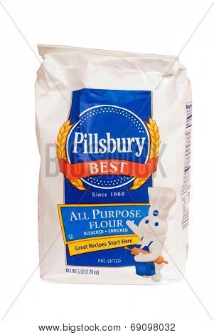Hayward, CA - July 24, 2014: 5 lb bag of Pillsbury Best All purpose flour