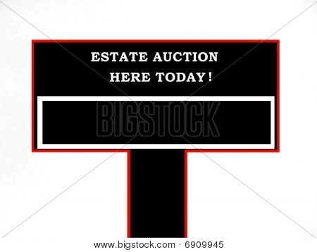 Blank Estate Auction Sign