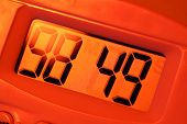 picture of tick tock  - Close up of a Digital timer clock