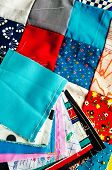 picture of quilt  - Colourful Quilt with multi - JPG