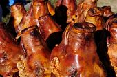 pic of pig head  - Traditional delicious food of South America Roasted pig - JPG