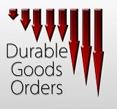 pic of macroeconomics  - Graph illustration showing Durable Goods Orders decline - JPG