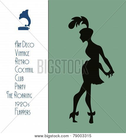 The roaring flappers girl design