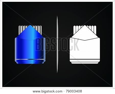 bottle and packaging
