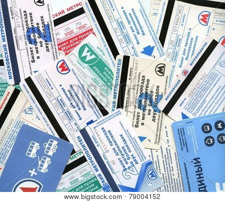 Background Of Metro Tickets Of Moscow