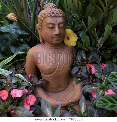 Buddha Statue, Zen Garden