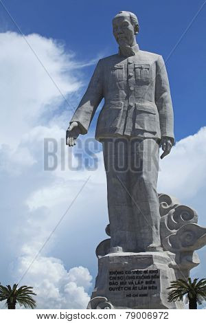 A statue of president Ho Chi Minh (uncle Ho)
