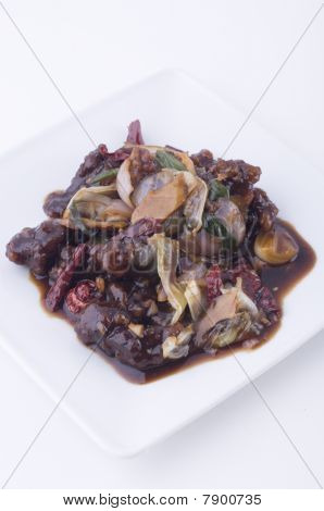Chinese Friend Dried Chili Mantis Prawn
