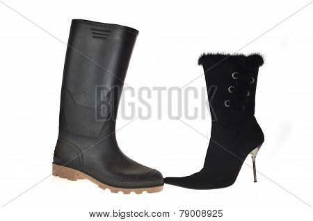 Shoe and overshoe