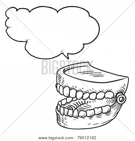 Artificial teeth speaking