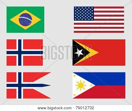 Set Of Flags 07.