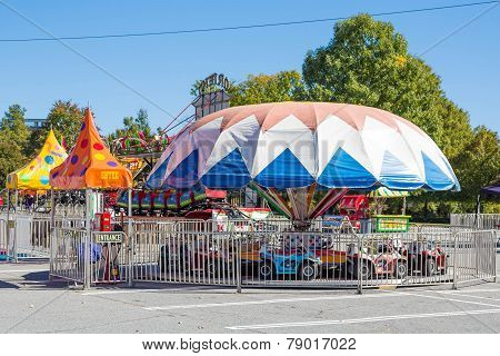 Colorful Kids Ride At Local Carnival