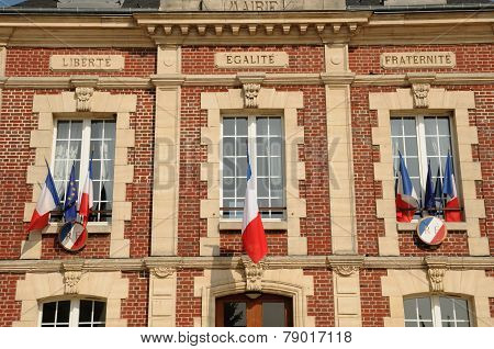 France, The City Hall Of Gasny In Eure