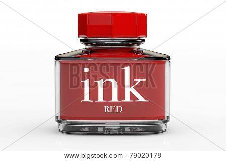 Red Ink Bottle