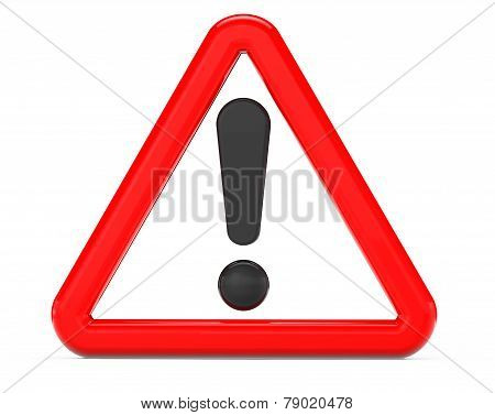 Exclamation Sign In Red Triangular