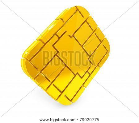 Golden Sim Or Credit Card Microchipon