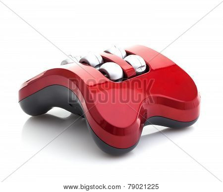 Electric Vibrating Foot Massager On White Background