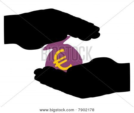 Hands With Moneybag