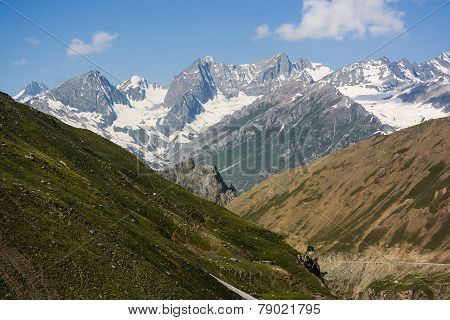Himalaya range landscape in summer , the north of India