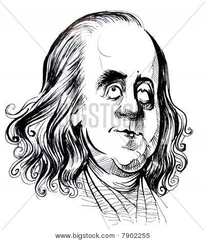 Benjamin Franklin caricature