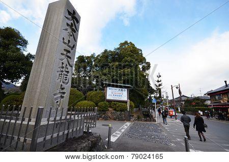 Tourists Visit Tenryu-ji In Kyoto, Japan