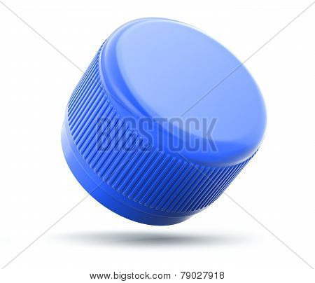 Plastic bottle cap on white background