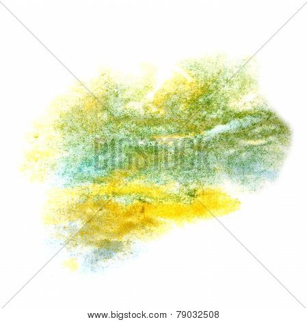 paint yellow, blue, green splash ink stain watercolour blob spot