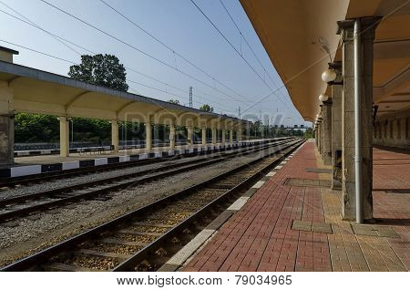 Renovating old station of railway,  Ruse, Bulgaria