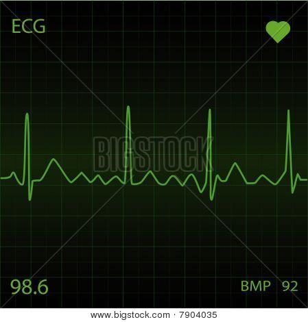 Green Heart Monitor