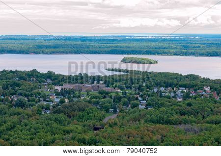 Spirit Lake And Island In Duluth Minnesota