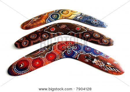 Australian Boomerang with beautiful design.