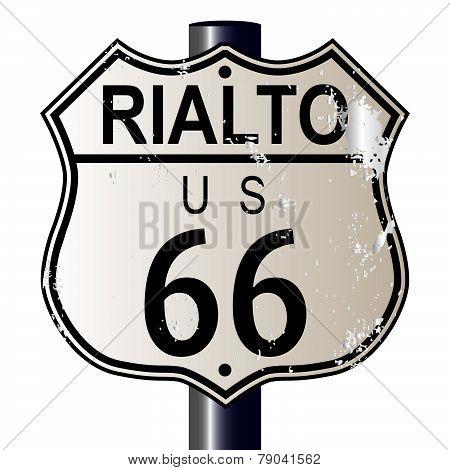 Rialto Route 66 Sign