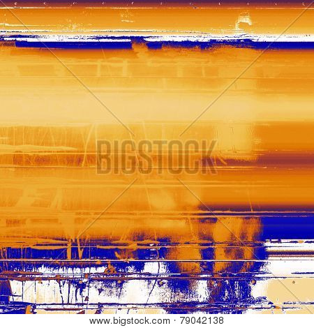 Old abstract grunge background, aged retro texture. With different color patterns: gray; blue; yellow (beige); brown