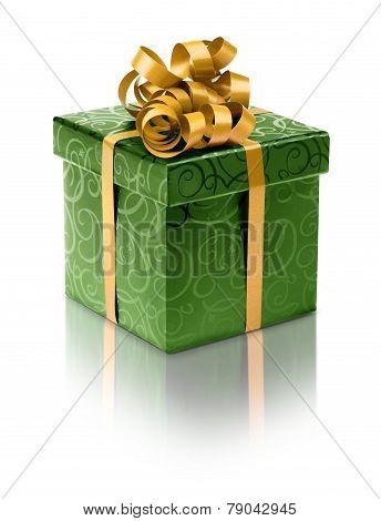Stylish Green Present Box