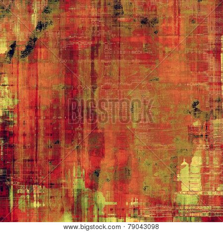 Art grunge vintage textured background. With different color patterns: yellow (beige); green; red (orange); pink