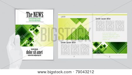 Graphical design magazine template