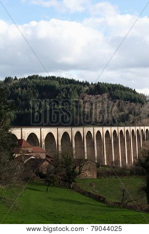 Viaduct of Mussy-sous-Dun in Burgundy