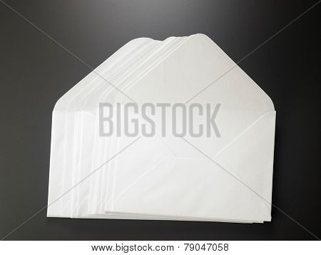 big stack of the blank envelope