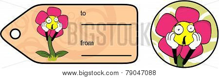flower cartoon giftcard