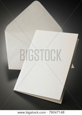 white blank card with envelope