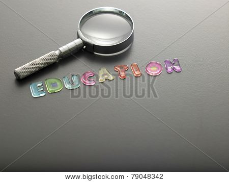 alphabet www education of magnifying glass