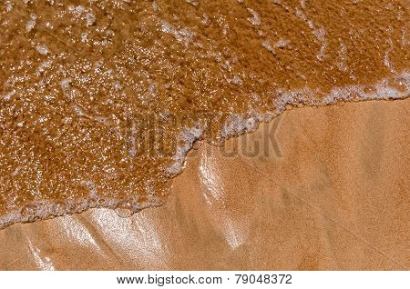 Closeup Of Sand Pattern Of A Beach