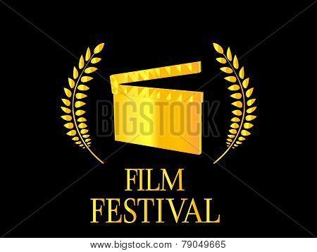 Film Festival Poster Black Background