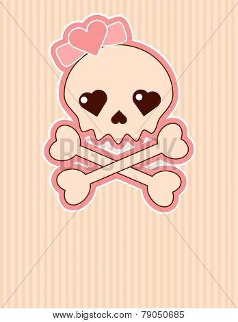 Very cute Skull place card with place for copy/text