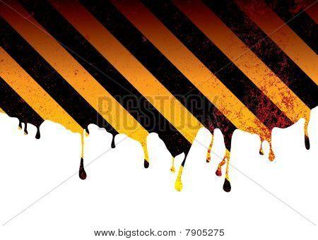 Warning Dribble Blood