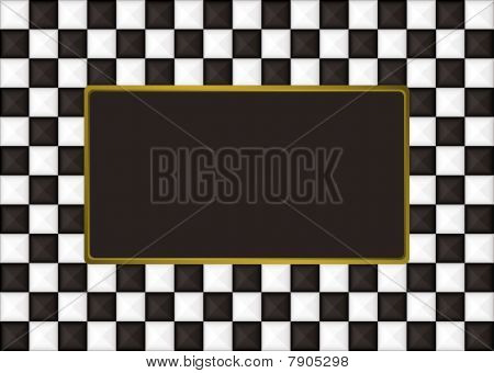 Checkered Oblong Picture Frame